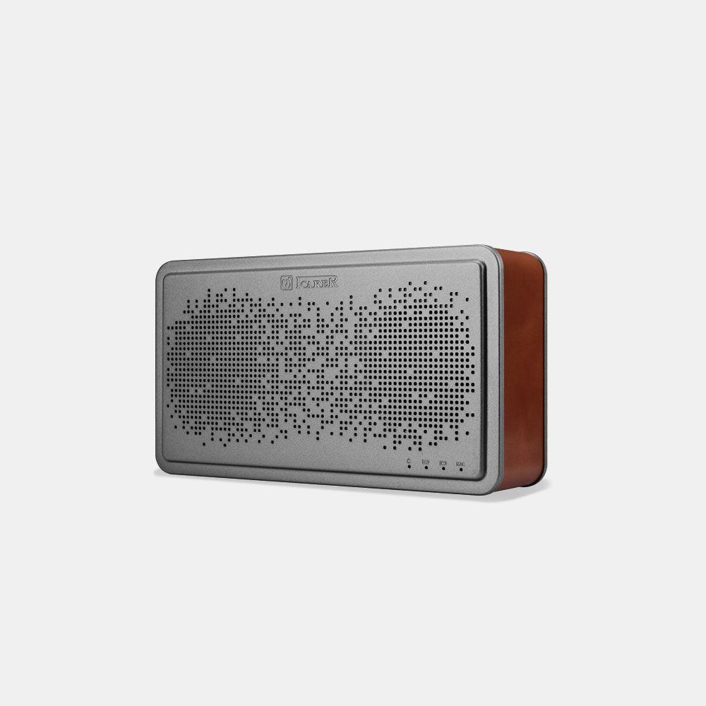 Icarer BS-221 Trådløs Bluetooth højtaler - Brun