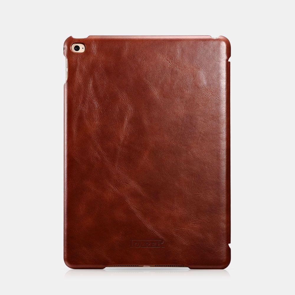 Image of   iPad Air 2 - Icarer Vintage Series ægte læder etui - Brun