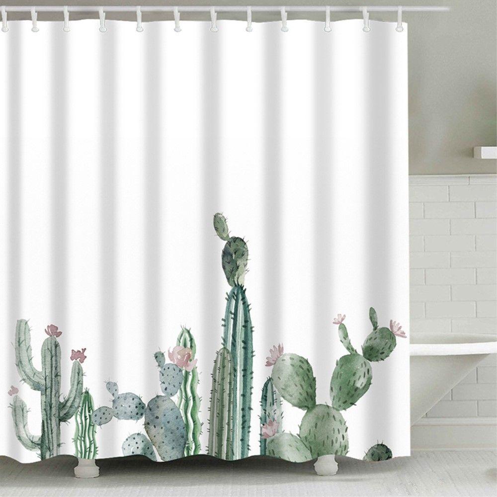 SHOWER - Badeforhæng med print - 180 x 180 cm. - Style A