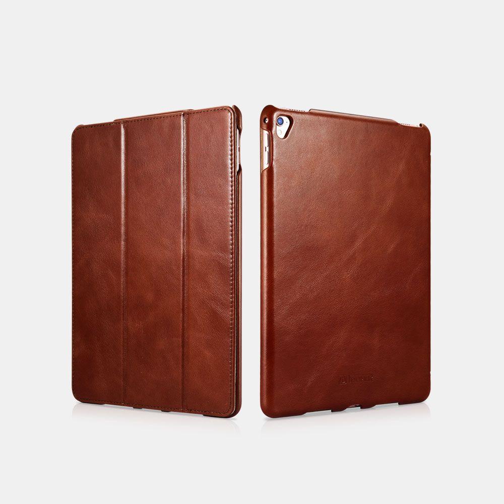 Image of   iPad Pro 9.7 - Icarer Vintage Series ægte læder etui - Brun