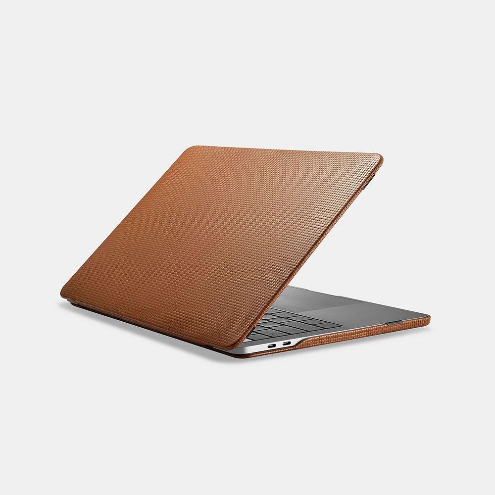 """Image of   MacBook Pro 13"""" (2016-2018) - ICARER ægte læder cover - Brun"""