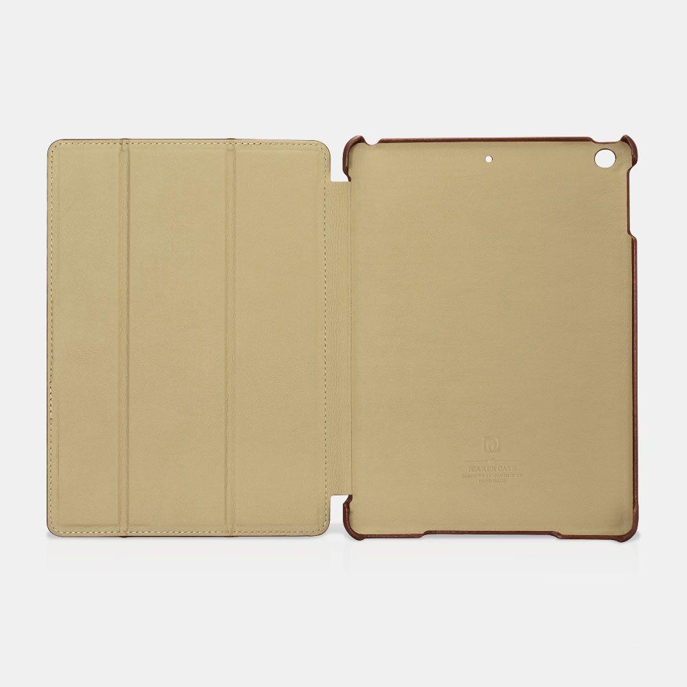 Image of   iPad 9.7 (2017 / 2018) - Icarer Vintage Series ægte læder etui - Brun