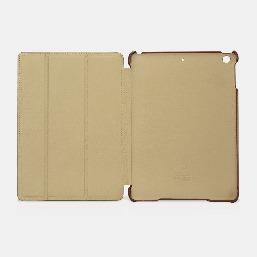 Image of   iPad 9.7 (2017 / 2018) - Icarer Vintage Series ægte læder etui - Sort