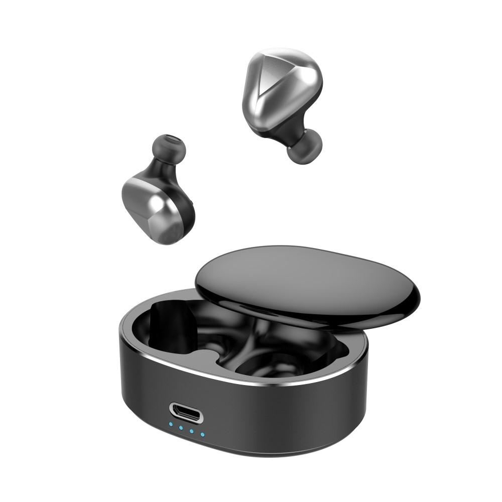 Billede af Dynamic 6D - Trådløse Bluetooth Ear-Buds med Touch Funktion & Opladerbox - Sort