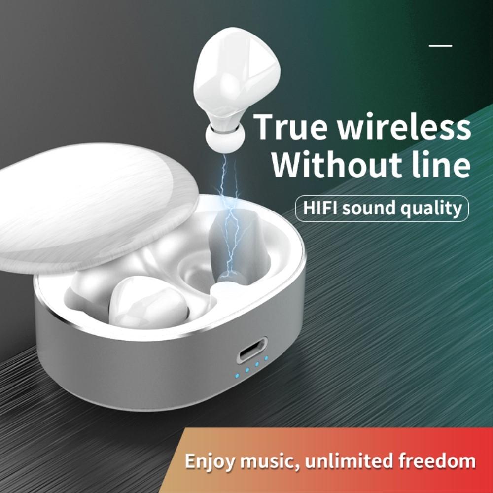 Billede af Dynamic 6D - Trådløse Bluetooth Ear-Buds med Touch Funktion & Opladerbox - Hvid