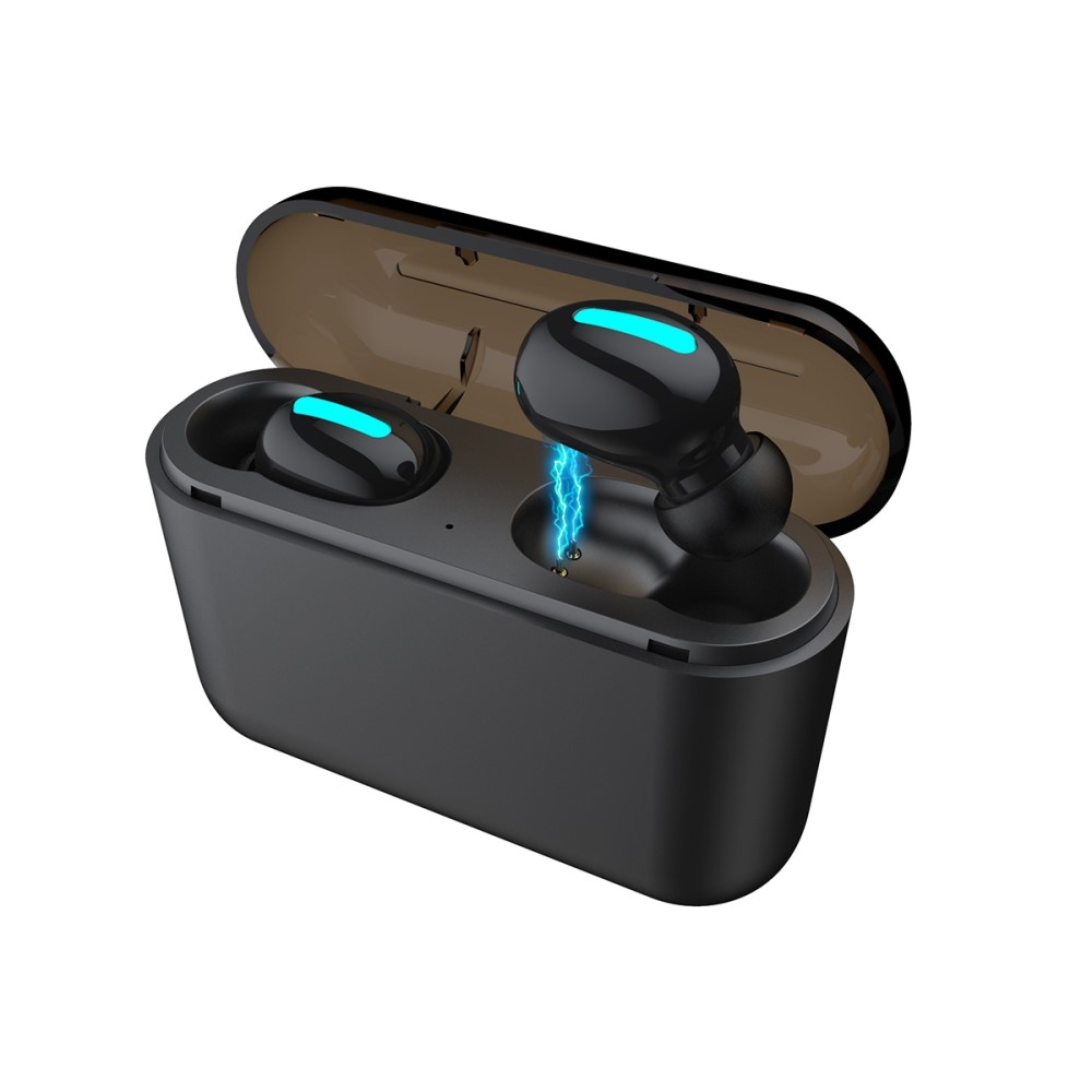 Image of   HBQ TWS V5.0 Sports Bluetooth In-Ear høretelefoner - Sort
