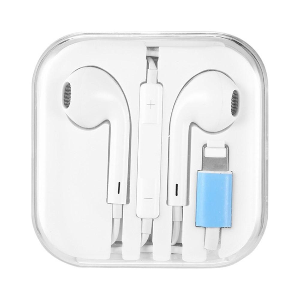 Image of Apple/iPhone - Høretelefoner med Bluetooth Lightning kabel & mikrofon - Hvid
