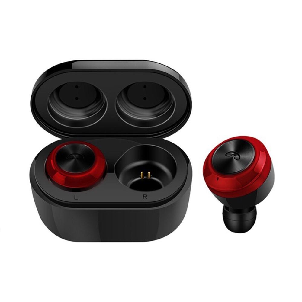 Billede af DT3 - TWS Trådløse Bluetooth 5.0 Høretelefoner med opladerbox - Rød