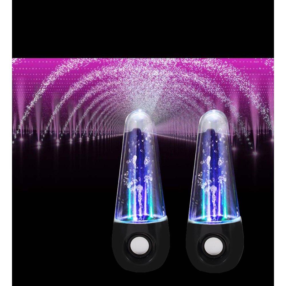 Image of   LED Water Dancing Fountain højtaler 2 STK - sort
