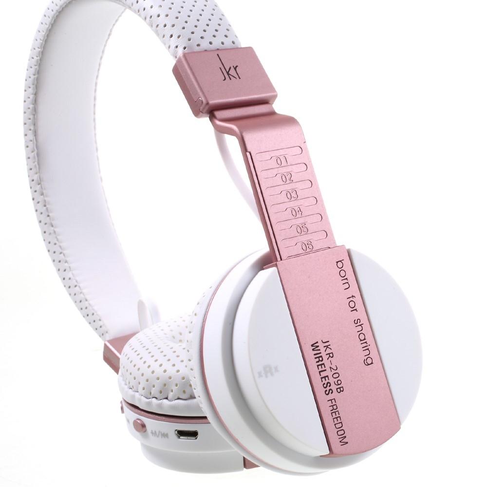 Image of   JKR Trådløst Bluetooth over-øre Høretelefoner - Hvid/Rosa guld