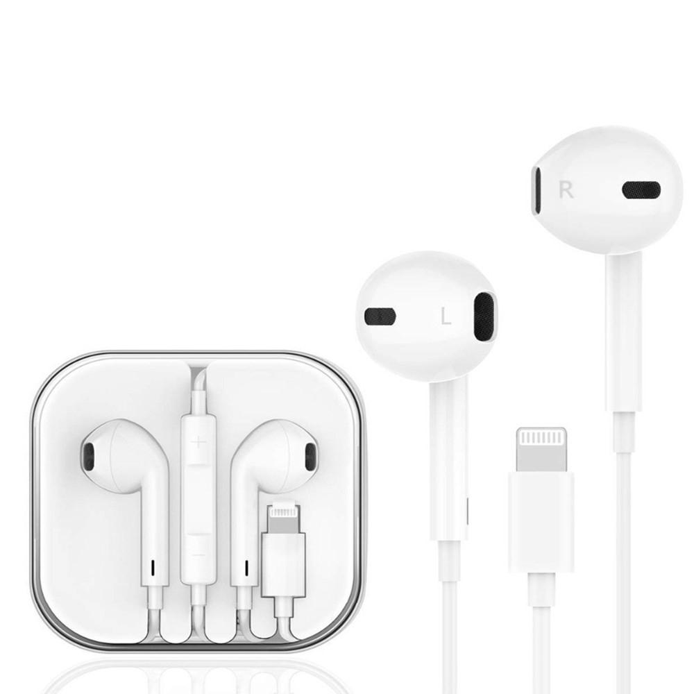 Image of Apple/iPhone - Høretelefoner med Bluetooth Lightning kabel - Hvid