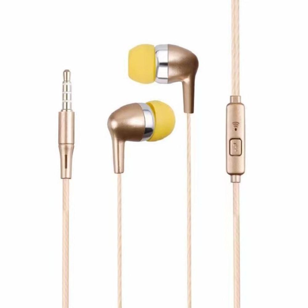Billede af SWEET - In-Ear Høretelefoner med 3.5mm jack kabel - Med mikrofon & kontrolpanel - Guld