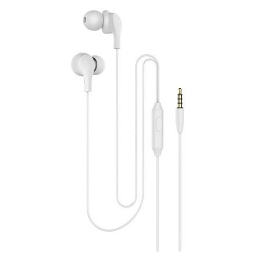 Billede af Slim-Line 4D - In-Ear Høretelefoner med 3.5mm audio kabel - Mikrofon & kontrolpanel - Hvid