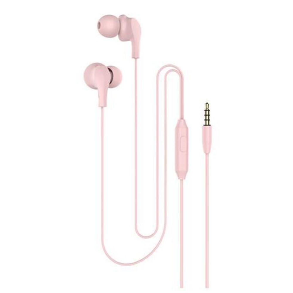 Billede af Slim-Line 4D - In-Ear Høretelefoner med 3.5mm audio kabel - Mikrofon & kontrolpanel - Pink