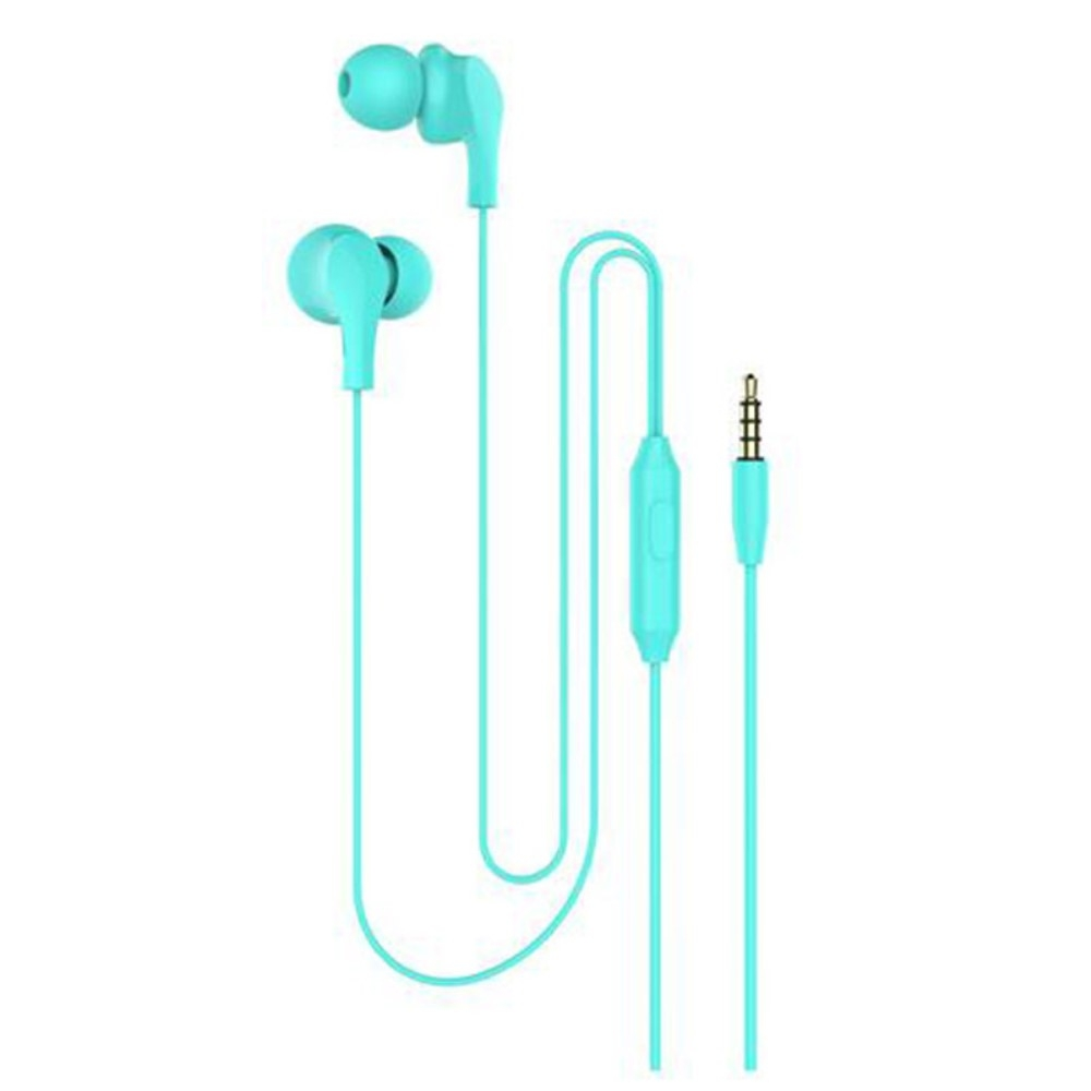 Billede af Slim-Line 4D - In-Ear Høretelefoner med 3.5mm audio kabel - Mikrofon & kontrolpanel - Grøn