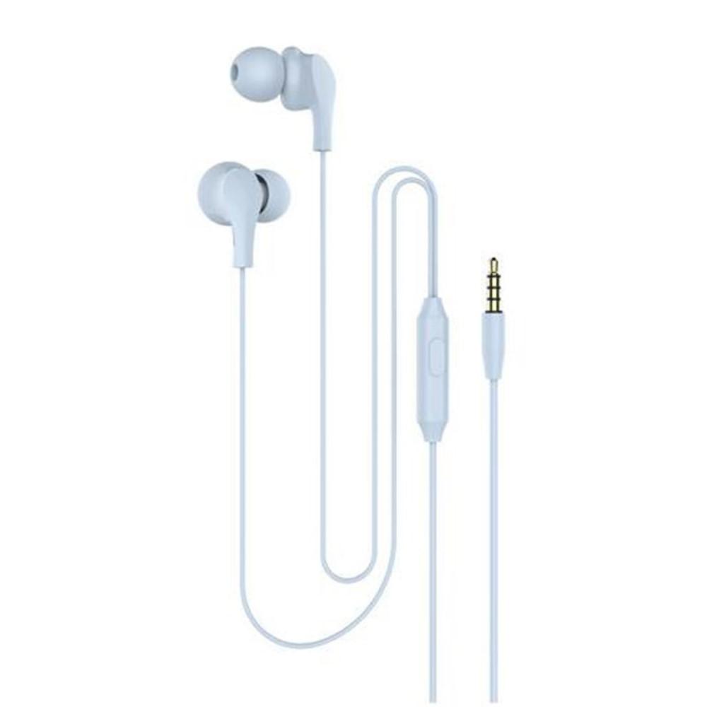 Billede af Slim-Line 4D - In-Ear Høretelefoner med 3.5mm audio kabel - Mikrofon & kontrolpanel - Blå