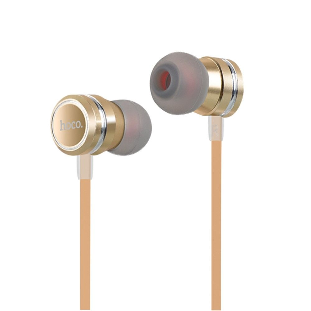 Image of   Høretelefoner HOCO In-ear 3.5mm m/mikrofon - Guld