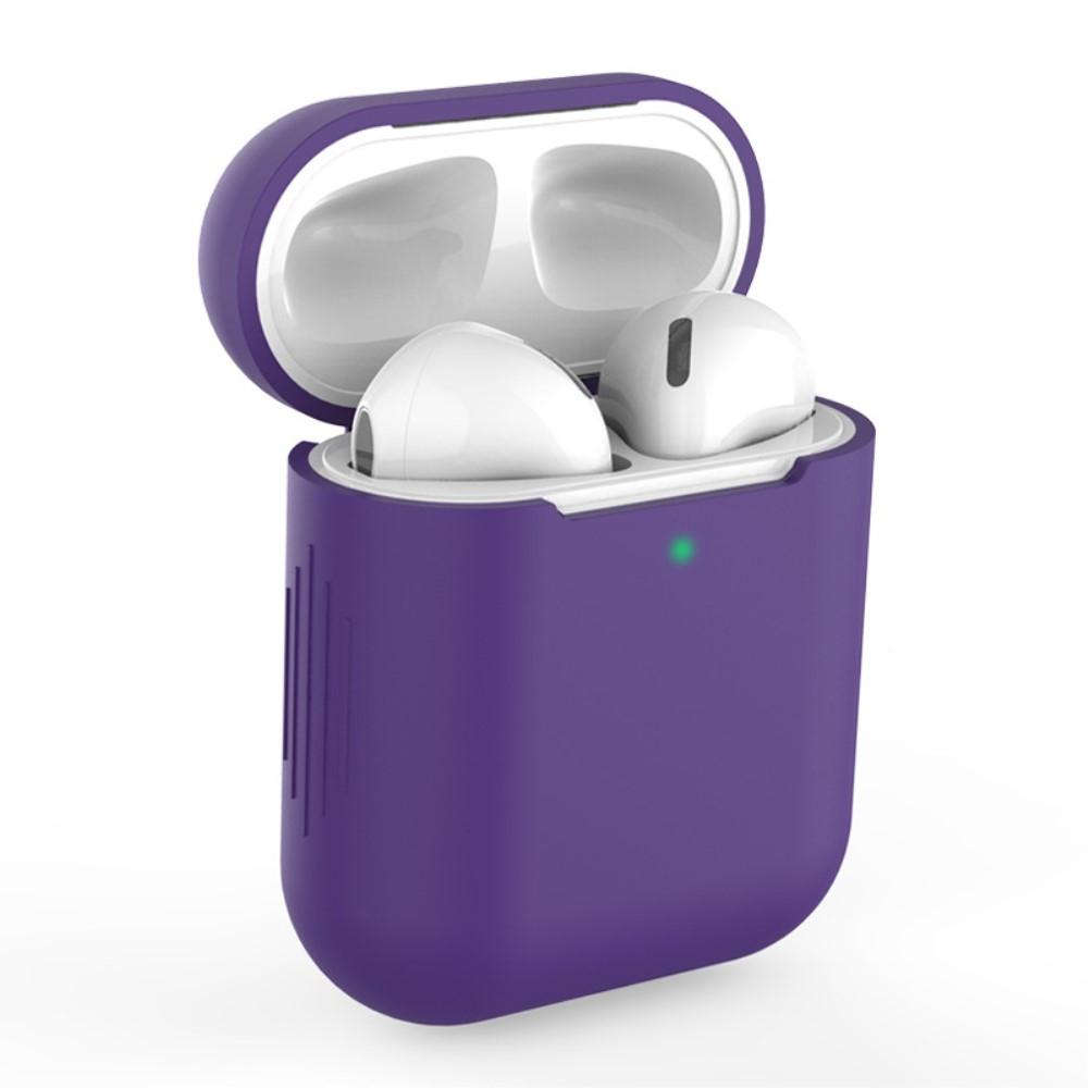 Apple AirPods - Silikone beskyttelses cover til opladerbox - Mørk Lilla