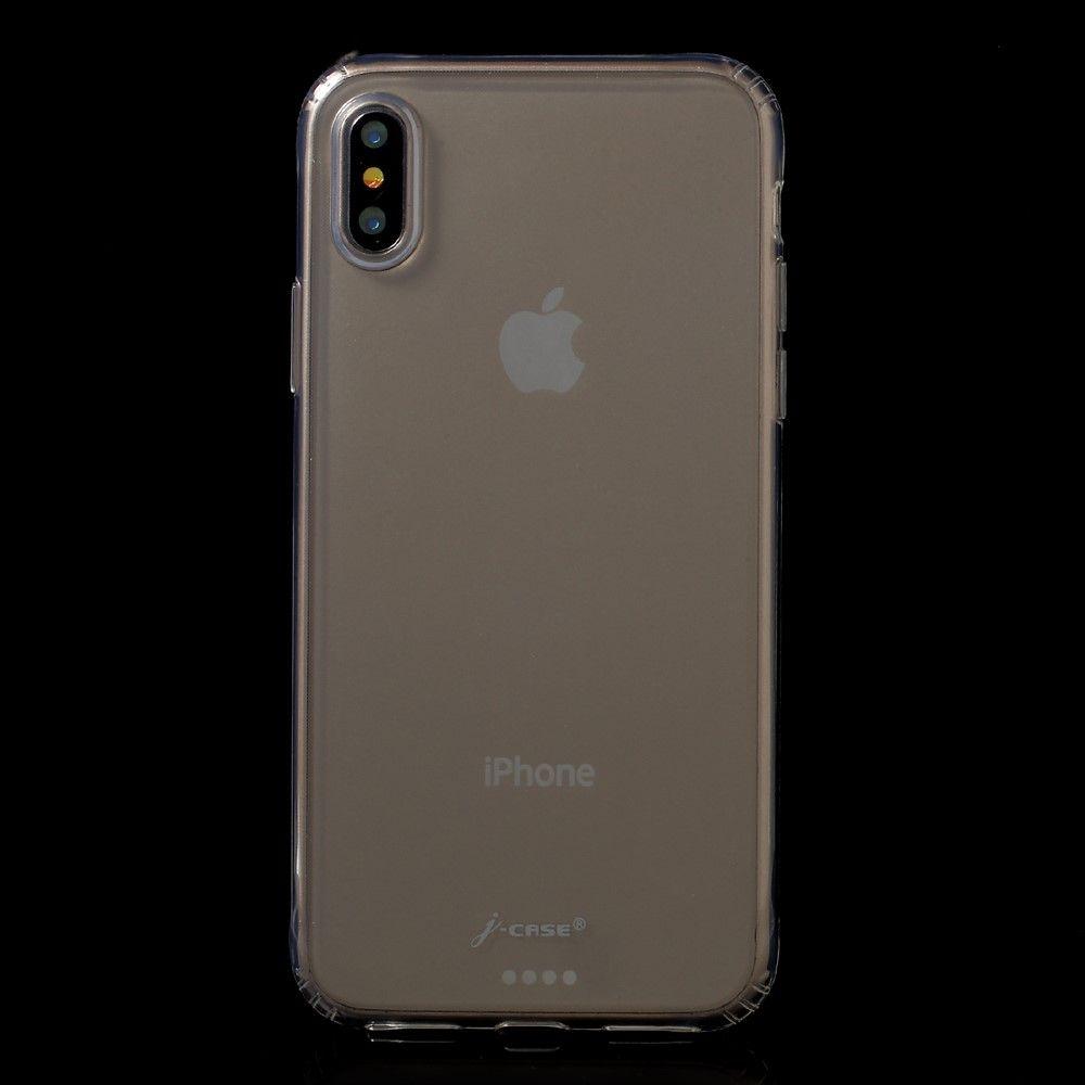 Image of   iPhone X - J-CASE klar blødt TPU etui