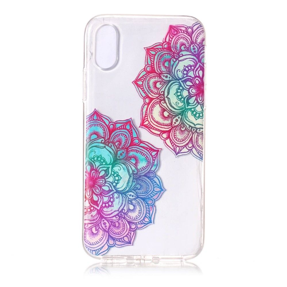 Image of   iPhone X - TPU blødt cover - Lotus blomster