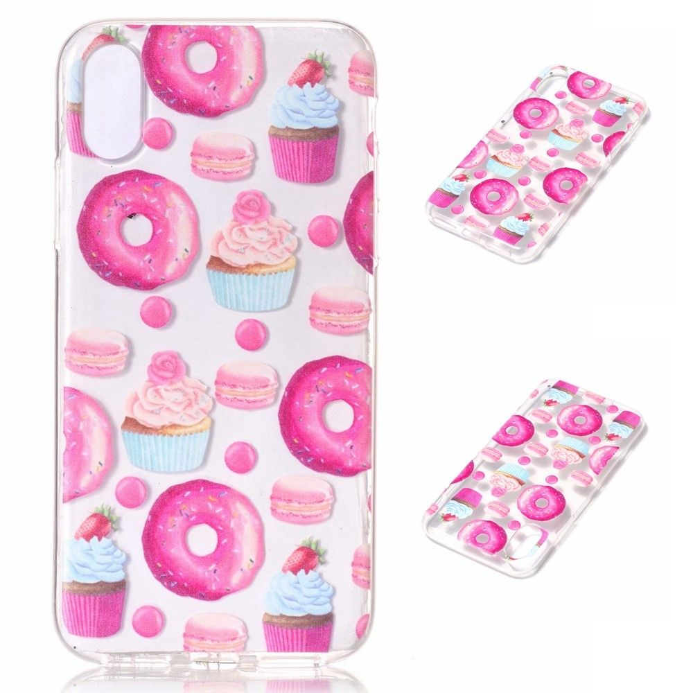 Image of   iPhone X - TPU blødt cover - Dessert