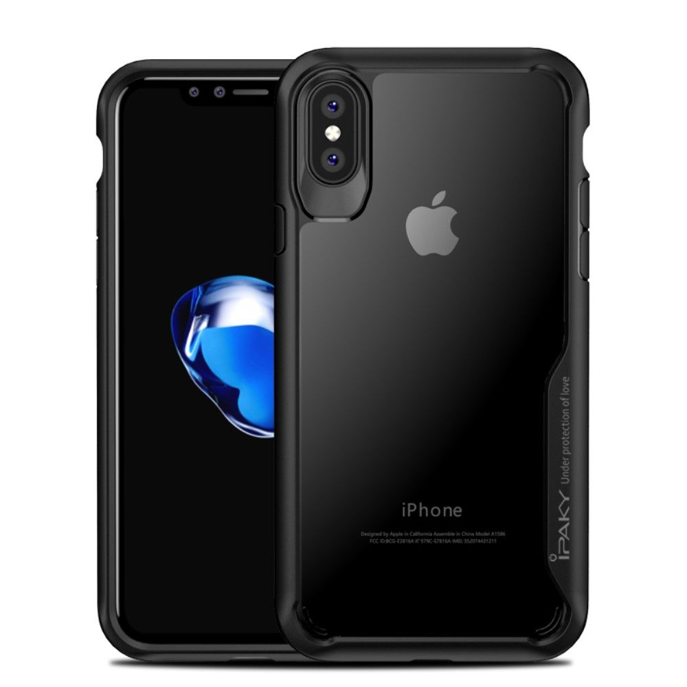 Image of   iPhone X - IPAKY Hybrid PC+TPU cover - Sort