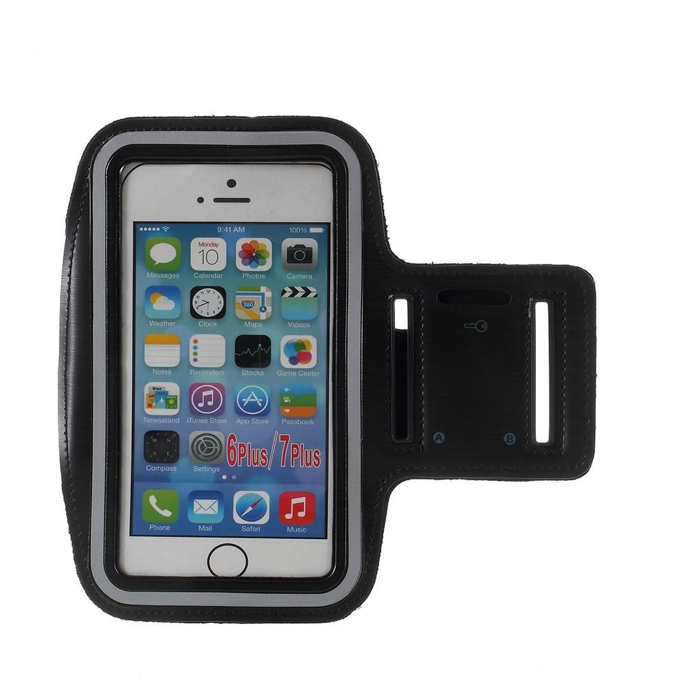 iPhone 8/7/6/6s Plus - Løbe sports armbånd - Sort