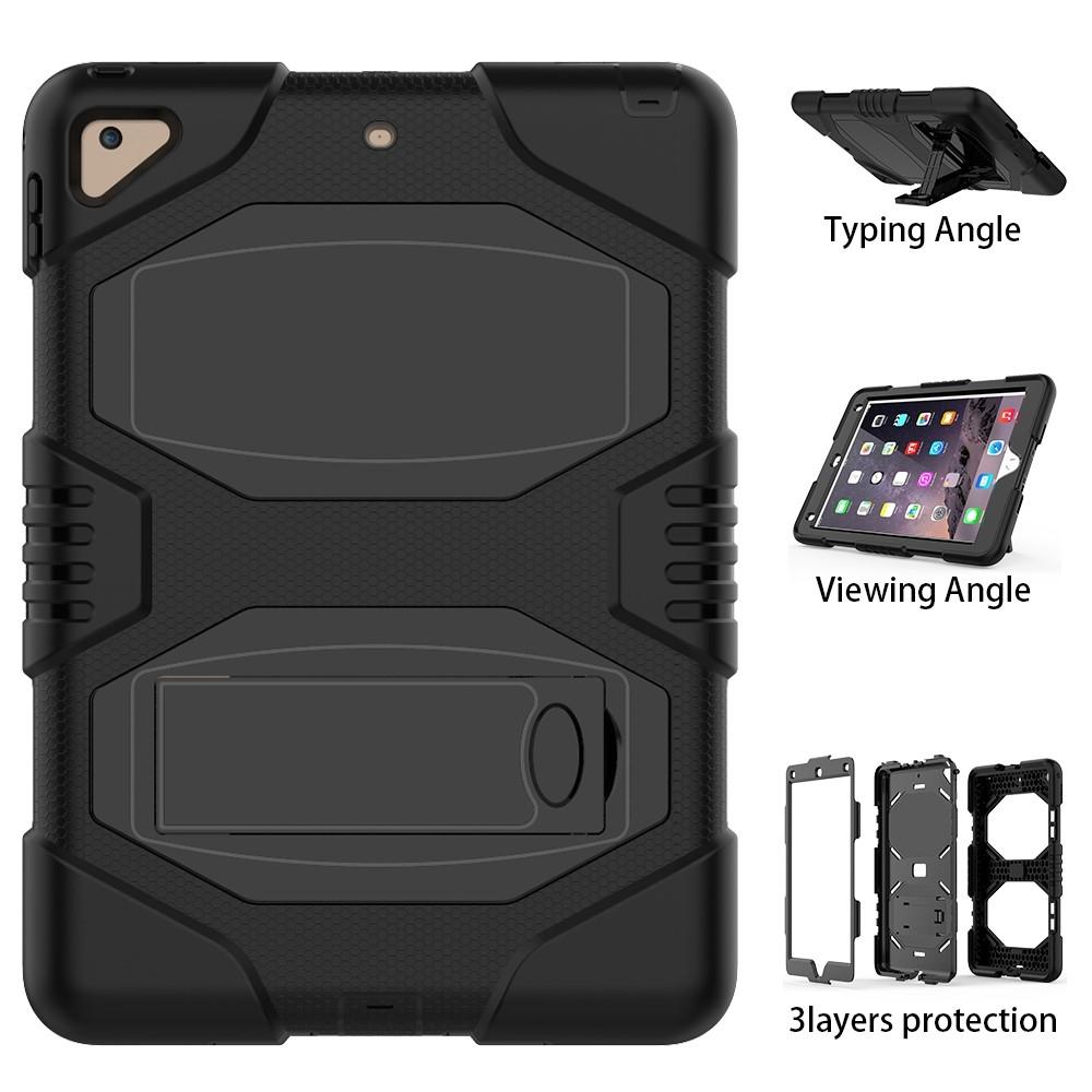 iPad 9.7 (2017/2018) - Armor Defender Hybrid cover/etui - Sort