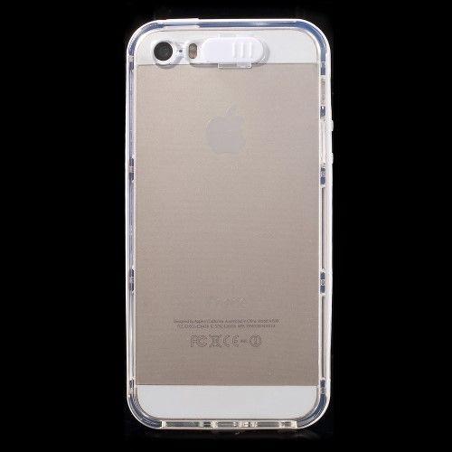 Image of   iPhone 5/5s/SE - Indkommende Opkald LED Lys Klar TPU og PC Etui - Hvid