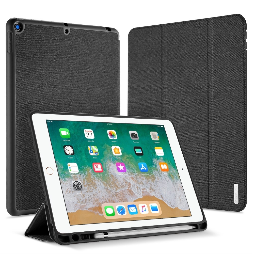 Image of   iPad 9.7 (2017 / 2018) - DUX DUCIS Domo Series Tri-Fold Smart cover - Sort