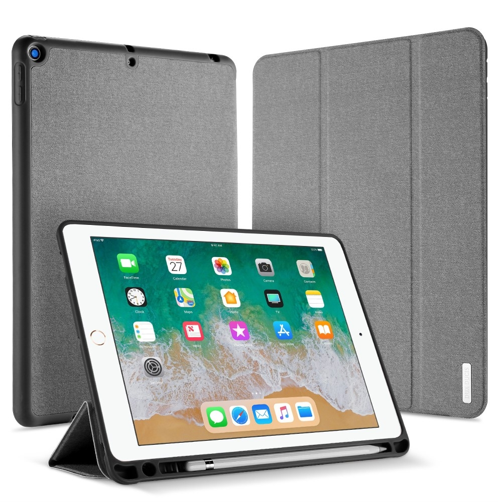 Image of   iPad 9.7 (2017 / 2018) - DUX DUCIS Domo Series Tri-Fold Smart cover - Grå