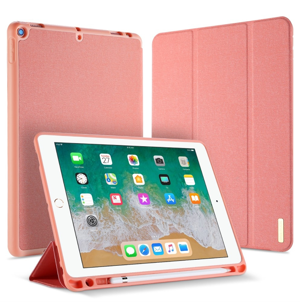 Image of   iPad 9.7 (2017 / 2018) - DUX DUCIS Domo Series Tri-Fold Smart cover - Pink