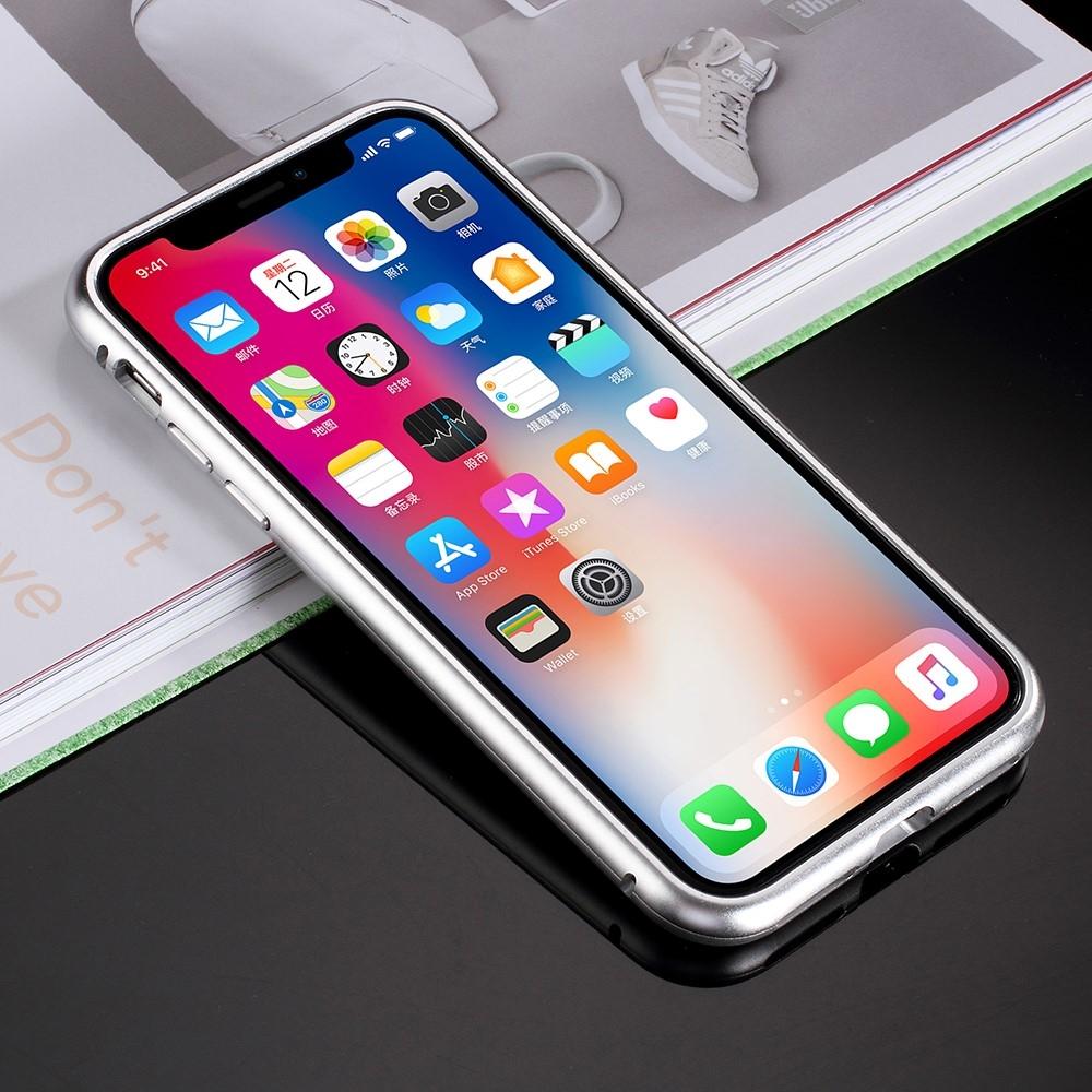 Image of   iPhone Xs/X - Hardcover metal/hærdet glas - Hvid