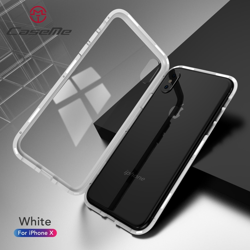 Image of   iPhone X / XS - CASEME aftagelig 2-i-1 design Hardcover - Hvid