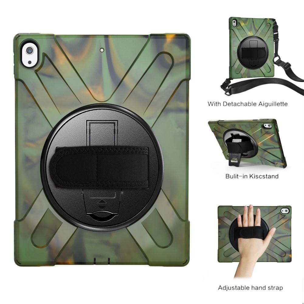 Image of   iPad 12.9 (2018) - X-SHAPE Hybrid cover m/skulderrem - Kamouflage