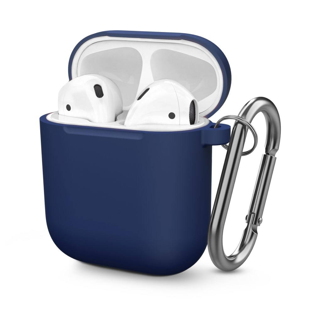 Image of   Apple AirPods 2019-2016 - Silikone cover til opladerbox - Mørkeblå