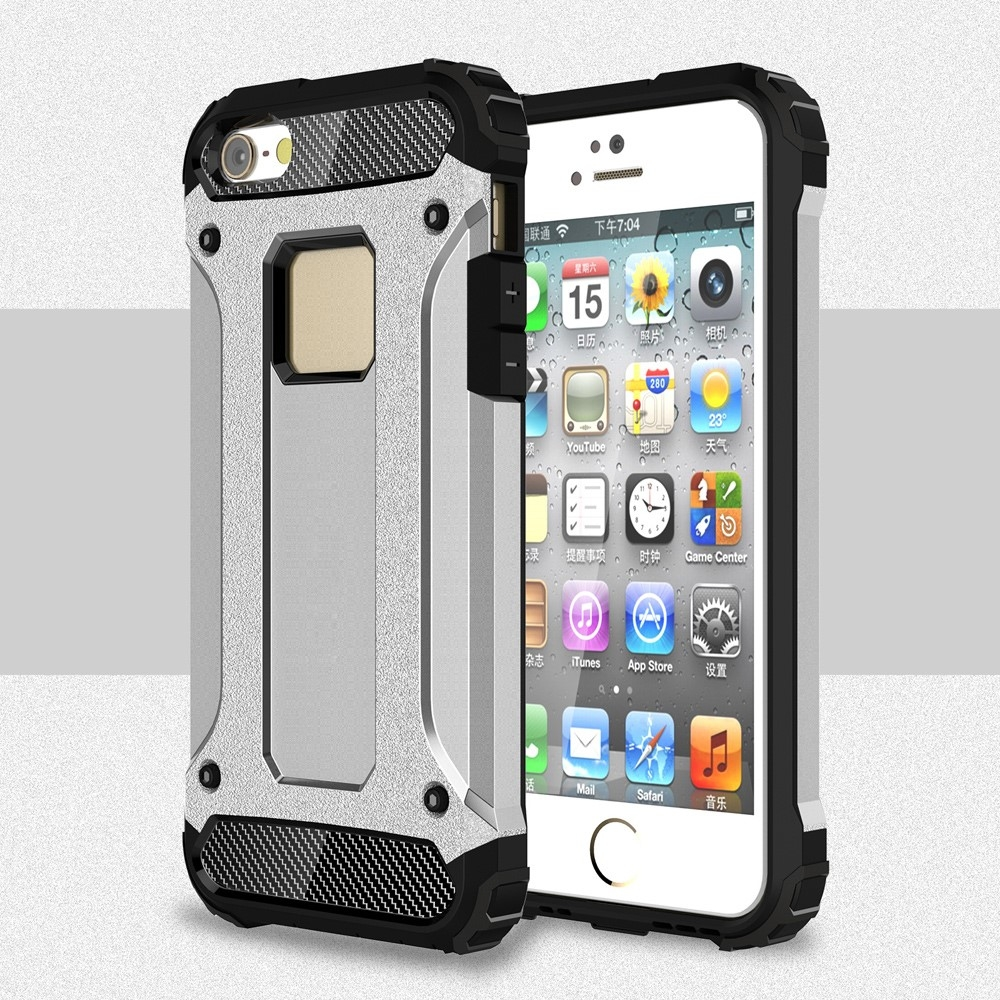 Image of   iPhone 5/5s/SE - Armor Guard Hybrid cover - Sølv