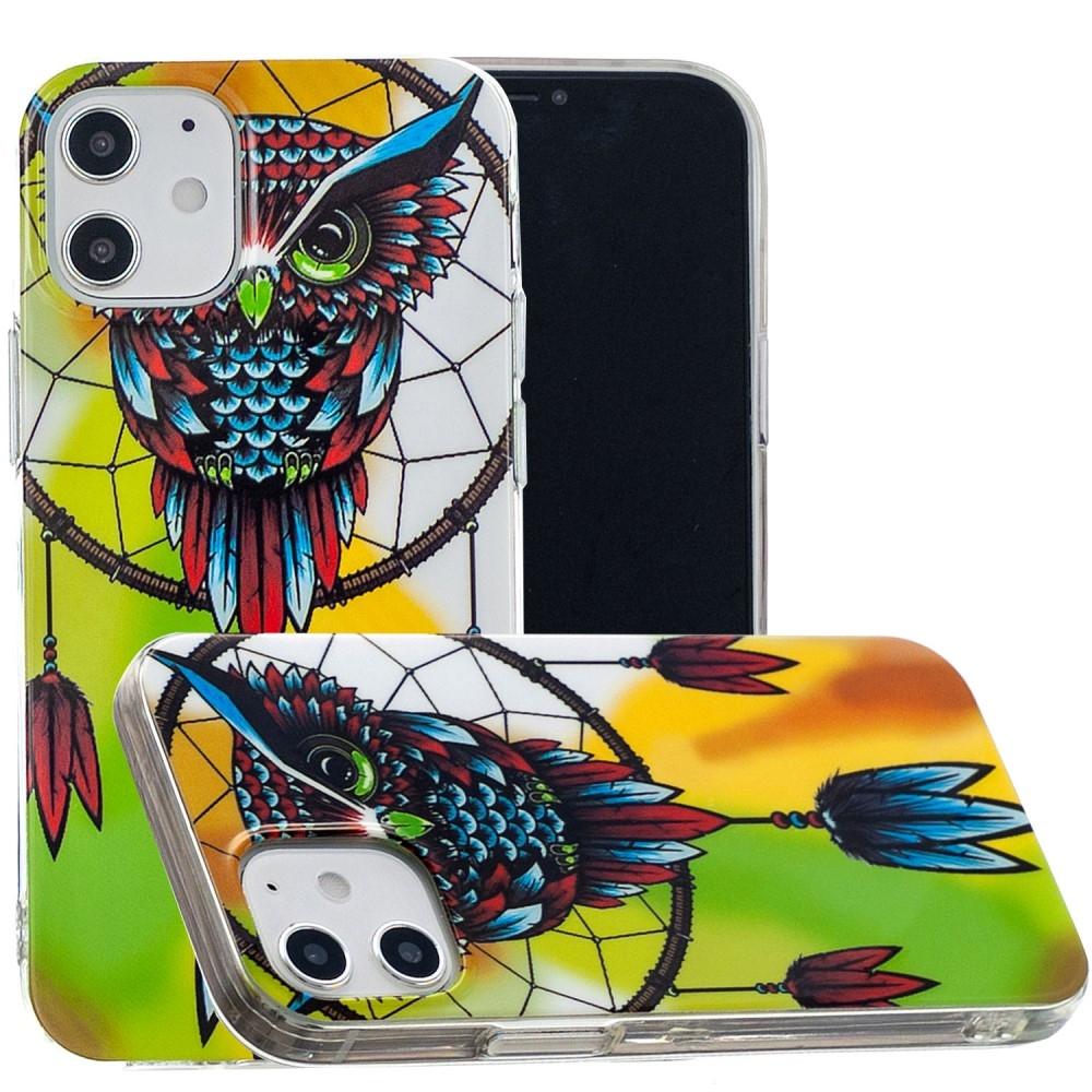 Billede af iPhone 12 - Gummi cover med printet Design - Ugle/Drømmefanger