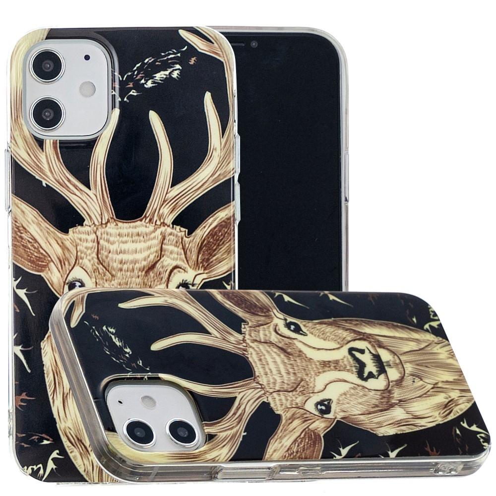 iPhone 12 mini - Gummi cover med printet Design - Elg