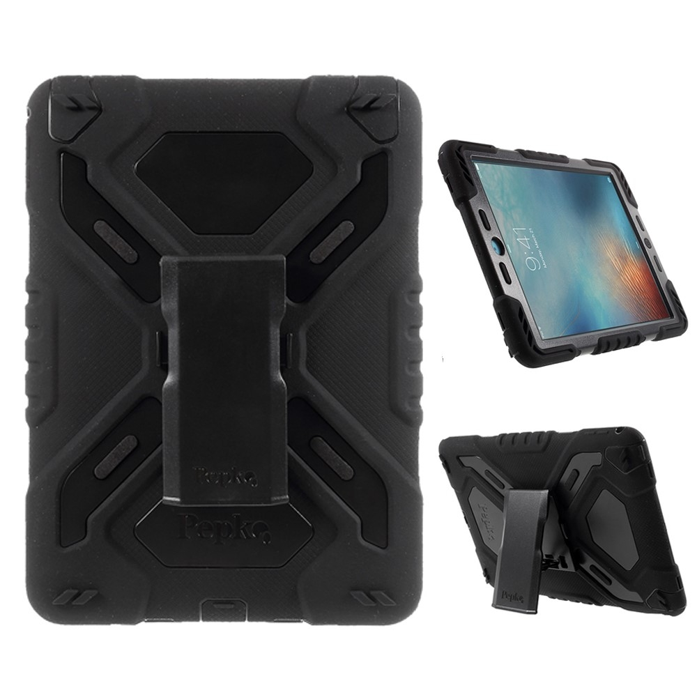 Image of   iPad Pro 9.7 - PEPKOO Spider Hybrid cover - Sort