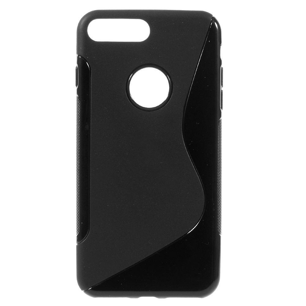 iPhone 8 Plus/7 Plus - S-Line design TPU cover - Sort
