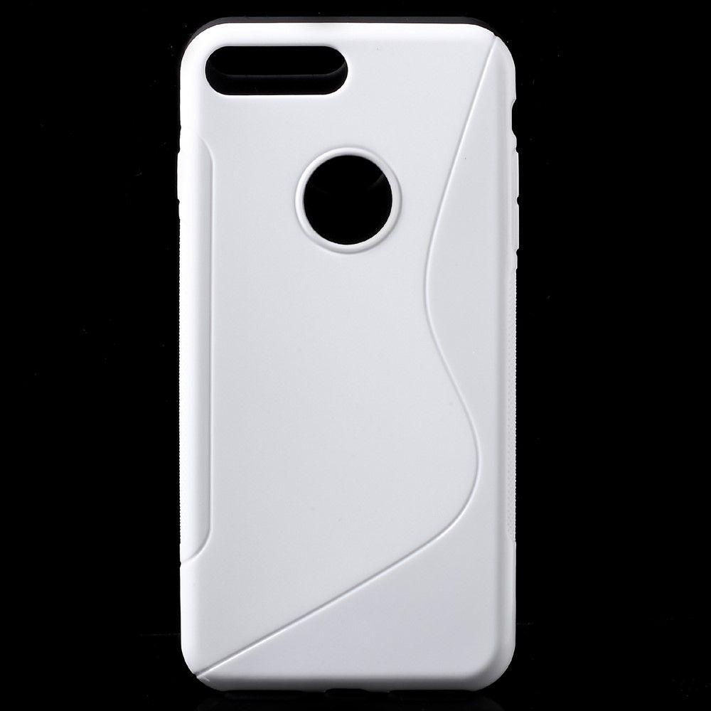 iPhone 8 Plus/7 Plus - S-Line design TPU cover - Hvid