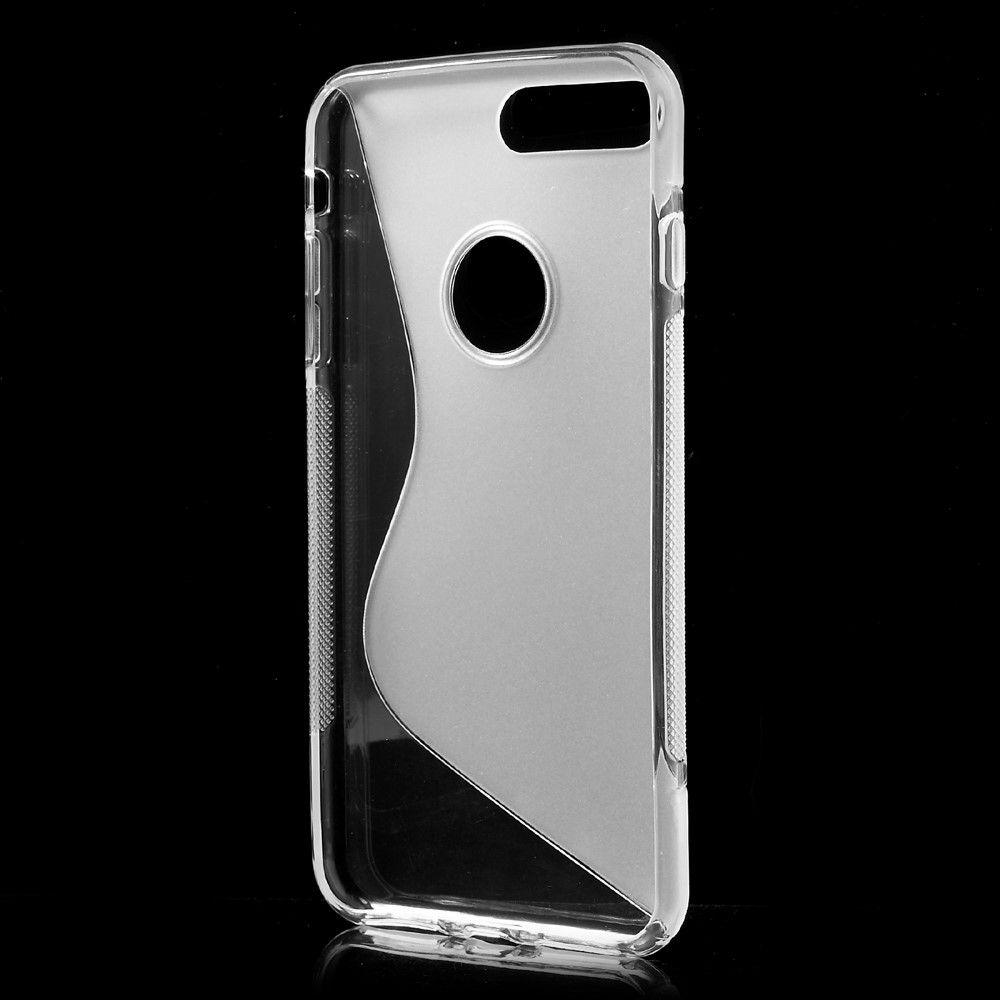 iPhone 8 Plus/7 Plus - S-Line design TPU cover - Transparent
