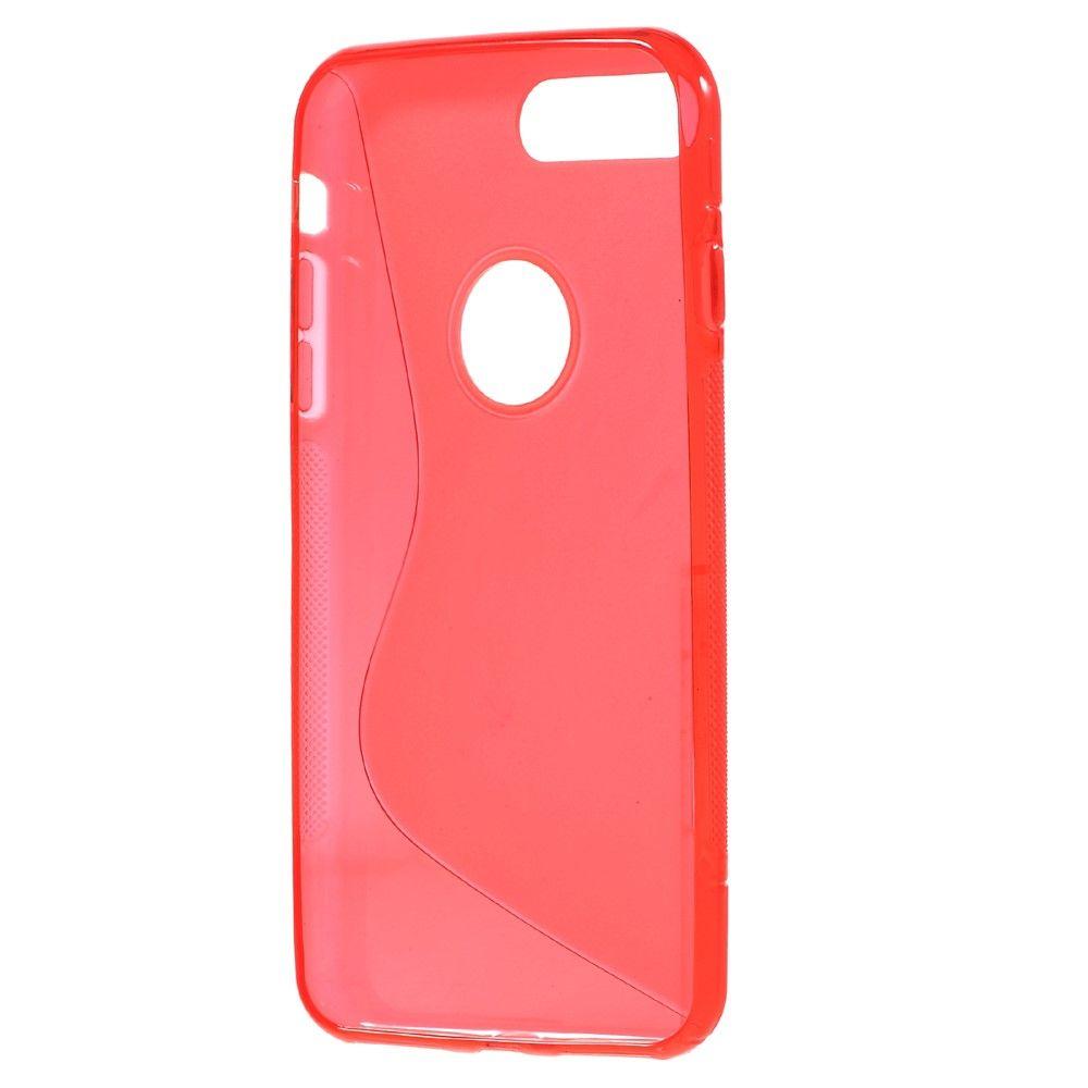 iPhone 8 Plus/7 Plus - S-Line design TPU cover - Rød