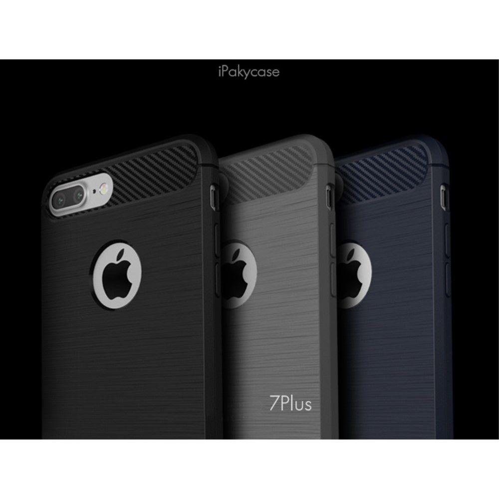 Image of   iPhone 8/7 - IPAKY TPU cover børstet design - Grå