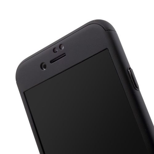 Image of   iPhone 7 - IPAKY Mat FUld Beskyttelse PC Hard Cover med Beskyttelsesfilm - Sort