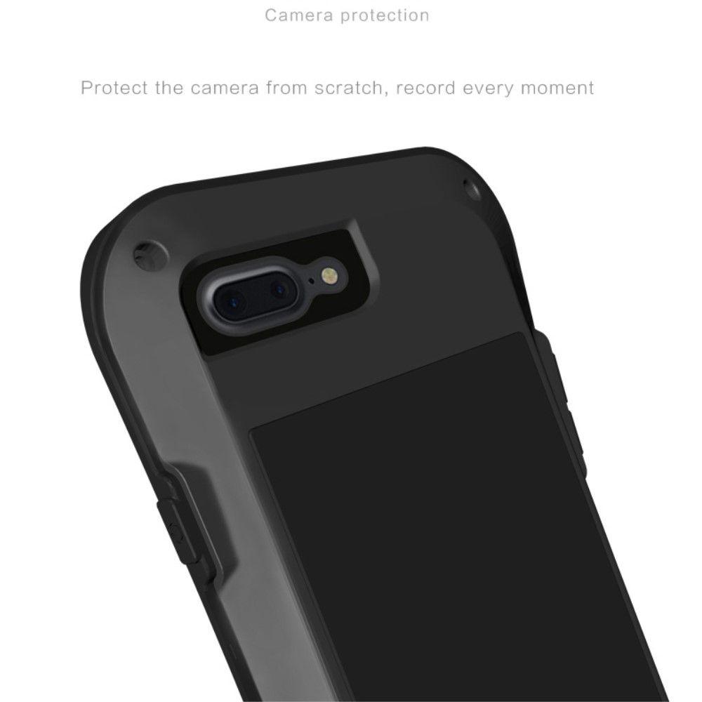 Image of   iPhone 8 Plus/7 Plus - LOVE MEI Shockproof etui m/skærmbeskytter - Sort