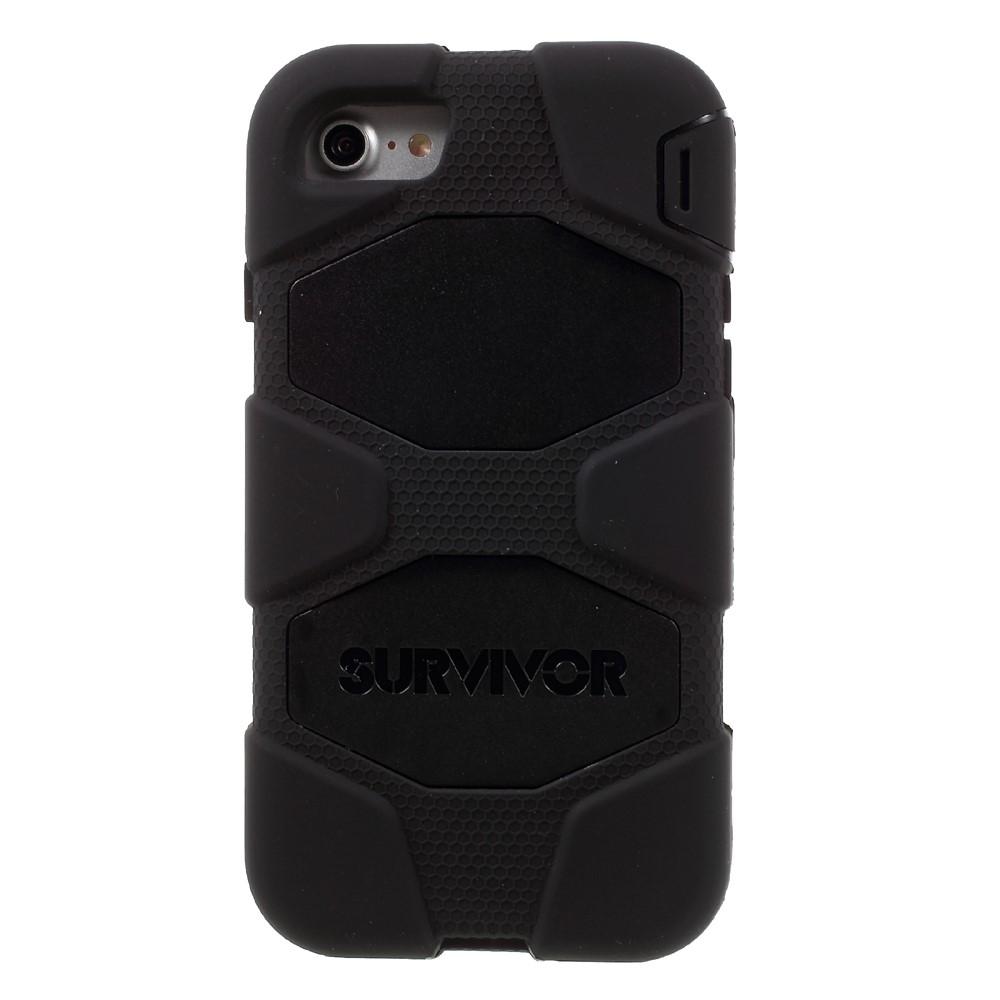 Image of   iPhone 8 / 7 - Griffin Survivor Hybrid cover med Bælte clip - Sort