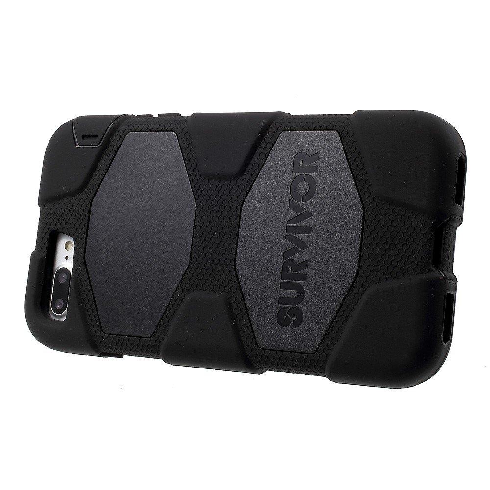 Image of   Iphone 8 plus/7 Plus -Griffin Survivor Hybrid cover med Bælte clip - Sort