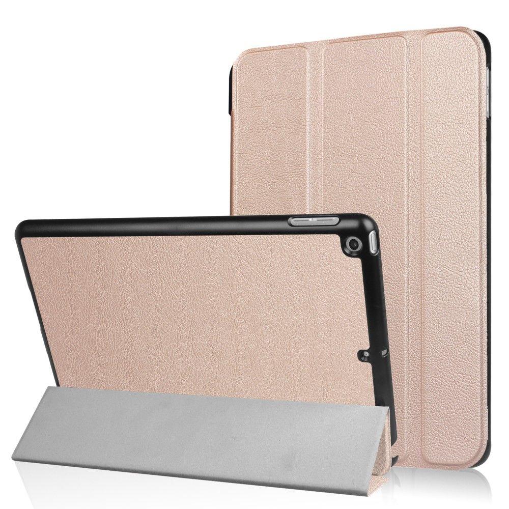 Image of   iPad 9.7 (2017) - Pu læder cover m/Tri-Fold stand - Rose guld